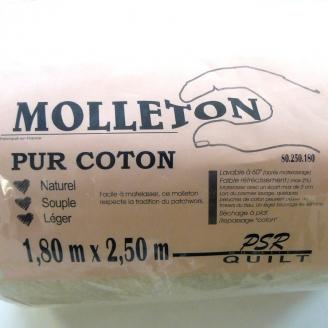MOLLETON PUR COTON pour patchwork 1,80 m x 2,50 m