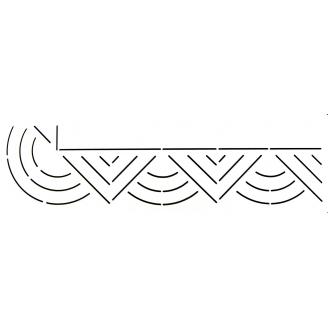 Stencil bordure géométrique 5cm