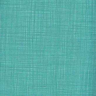 Tissu imprimé turquoise effet tissage