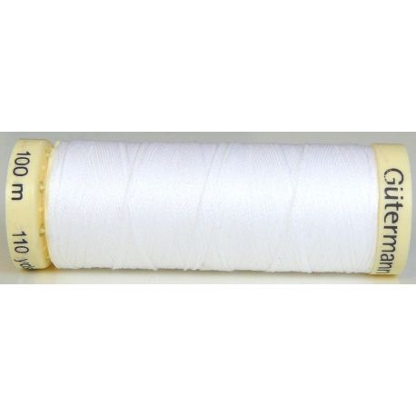 Fil à coudre 100% polyester Gutermann Blanc