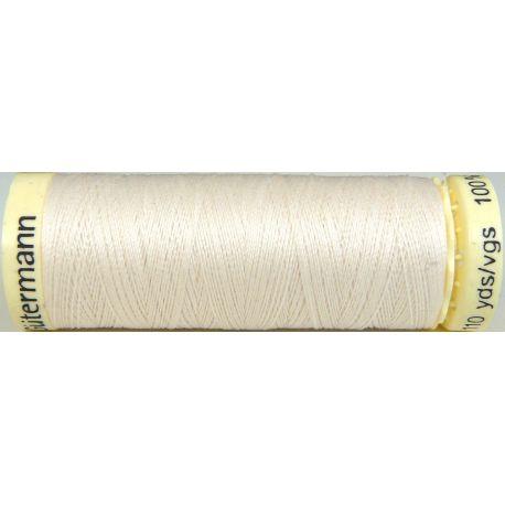 Fil à coudre 100% polyester Gutermann Ecru