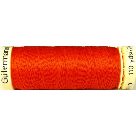 Fil à coudre 100% polyester Gutermann Orange