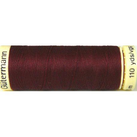 Fil à coudre 100% polyester Gutermann Bordeaux