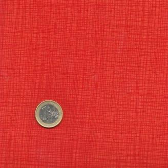 Tissu faux-uni quadrillé orange sanguine