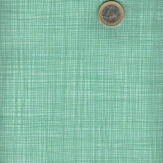 Tissu faux-uni quadrillé vert d'eau
