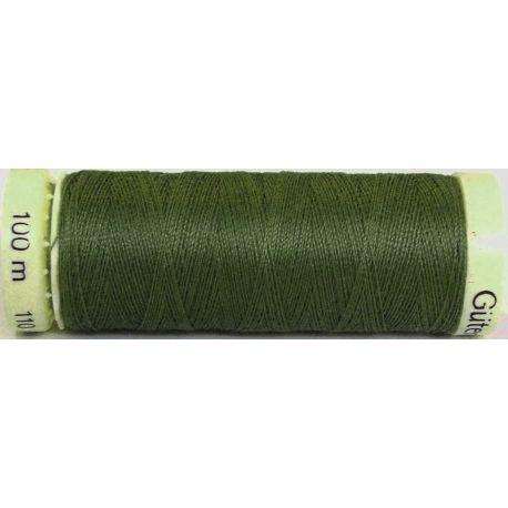 Fil à coudre 100% polyester Gutermann Vert militaire