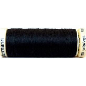 Fil à coudre 100% polyester Gutermann Noir