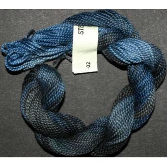 Perlé 8 Stef Francis bleu gris 02