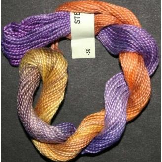 Perlé 8 Stef Francis orange violet 30