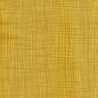 Tissu imprimé jaune banane effet tissage