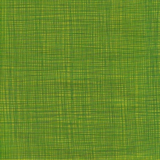 Tissu imprimé vert gazon effet tissage