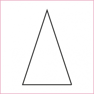 Triangle isocèle 1 inch 1/4 - Gabarit bristol