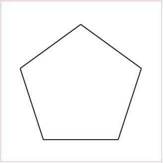 Pentagone 1 inch 1/4 - Gabarit bristol