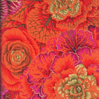 Tissu Philip Jacobs choux Brassica PJ51 Orange