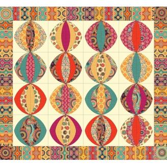Lanternes Indiennes, kit de patchwork contemporain