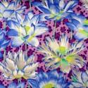 Tissu Philip Jacobs Leopard Lotus violet PJ81