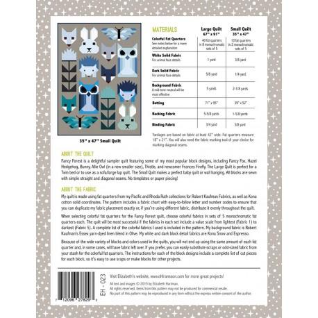 La Forêt enchantée - Modèle de patchwork d'Elizabeth Hartman (Fancy Forest)