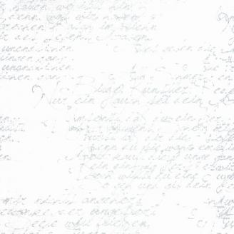 Tissu imprimé écritures grises fond blanc - Modern Background de Moda