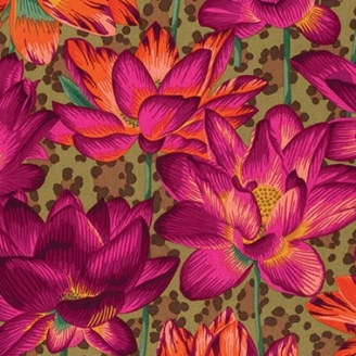 Tissu Philip Jacobs Leopard Lotus ocre PJ81