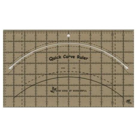 Quick Curve Ruler© - Règle pour la découpe des courbes