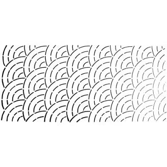 Stencil Overall arcs de cercles