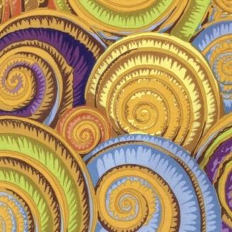 Tissu Philip Jacobs - Coquillages jaunes (Spiral shells)