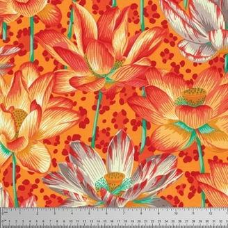 Tissu Philip Jacobs Leopard Lotus orange PJ81_