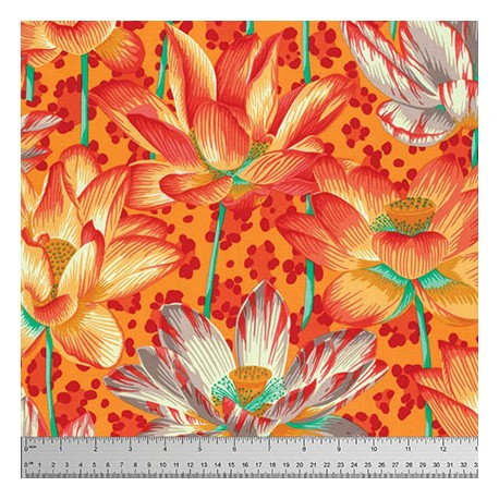 Tissu Philip Jacobs Leopard Lotus orange PJ81