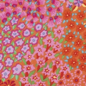 Tissu Kaffe Fassett Jardin Perse orange (Persian Garden) GP160