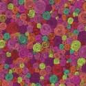 Tissu Kaffe Fassett prune à spirales Rolled Paper GP158