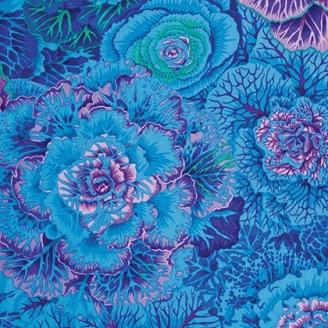 Tissu Philip Jacobs choux bleus Brassica PJ51