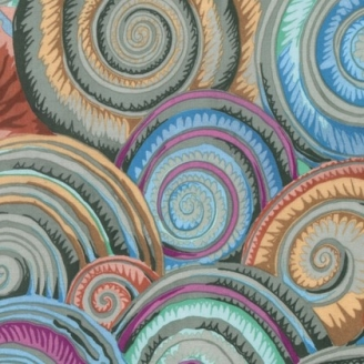 Tissu Philip Jacobs - Coquillages pastels (Spiral shells)