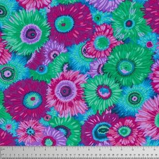 Tissu Philip Jacobs marguerites violettes Zany PJ79
