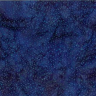 Tissu batik bleu lapis-lazuli pétillant