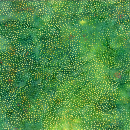 Tissu batik vert pétillant