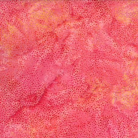 Tissu batik rose goyave pétillant