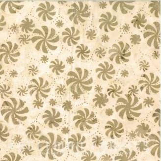 Tissu batik moulins beiges