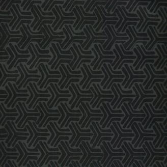Tissu batik cubes 3D noir