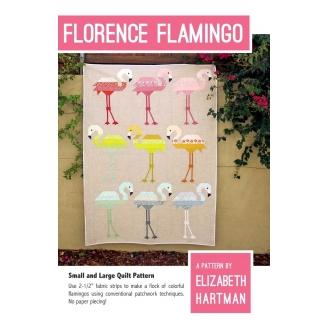 Flamants roses (Florence flamingo) - Modèle de patchwork d'Elizabeth Hartman