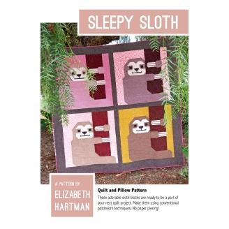 Paresseux (Sleepy sloth) - Modèle de patchwork d'Elizabeth Hartman