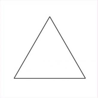 Triangle équilatéral 1 inch 1/4 - Gabarit bristol