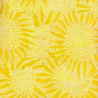 Tissu batik tournesols jaunes