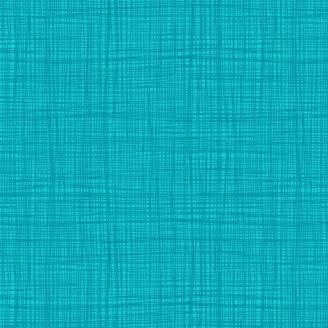 Tissu imprimé Bleu Paon effet tissage