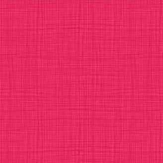 Tissu imprimé rose azalée effet tissage