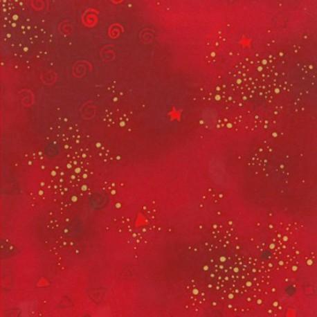 Tissu imprimé Laurel Burch Rouge passion