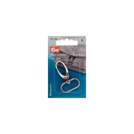 Mousqueton pour bandoulière de sac coloris argent Prym