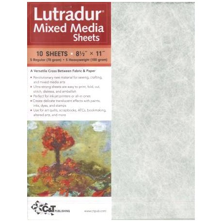 Lutradur Mixed Media - lot de 5 feuilles de 70 g + 5 feuilles de 100 g