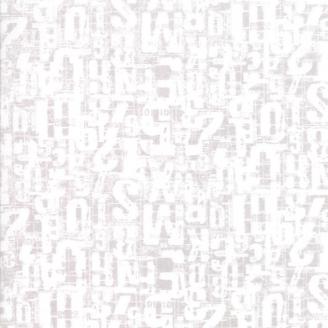 Tissu patchwork lettres et chiffres écrus fond beige - Compositions de Basic Grey