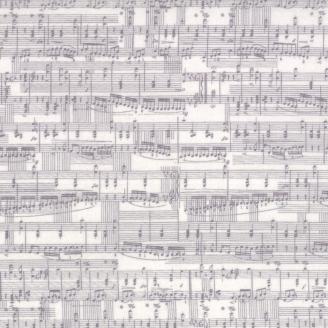 Tissu patchwork partition de musique - Compositions de Basic Grey