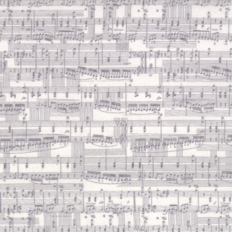 Tissu patchwork partition de musique - Compositions de Basic Grey